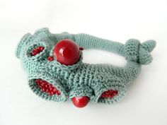 Crochet Bracelet inspired by organic shapes. by LidaAccessories, $50.00