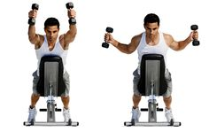 Dumbell Y T W I Set a bench to a 45-degree incline and lie on it facedown with a dumbbell in each hand. With thumbs pointing to the ceiling, raise your arms...