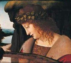 Leonardo Da Vinci (Italian painter, 1452-1519) Narcissus 1495