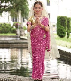 indian maharani princess girls costume - Only at Chasing Fireflies - This exotic princess conjures up images of majestic marble palaces with lush gardens and colorful birds.
