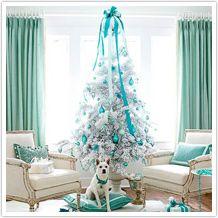 Modern Style Aqua Christmas Tree