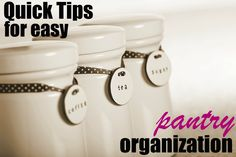Tips for an organized pantry!