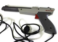 Zapper Light Gun for Nintendo NES Grey Gray Console by Retro8Games