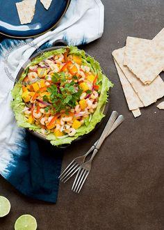 Ensalada de Ceviche de Camarones y Mango, y como mantenerte hidratado en el verano. Patrocinado por #nestlepuravida