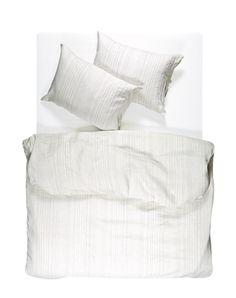 Blue Pinstripe Linen Duvet Covers / Pillows and Fitted Sheets - Yarn Dyed Linen Duvet, Duvet Bedding, Flat Sheets, Fitted Sheets, Cheap Linens, Bedding Collections, Natural Linen, Bed Pillows, Pillow Covers