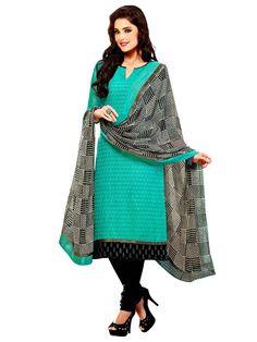 Alluring Chanderi silk Kurta in turquoise color. Item Code: SLHD65002