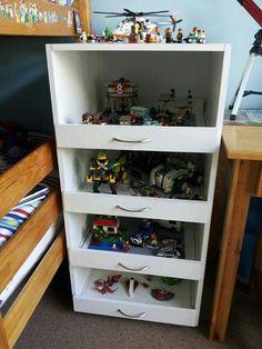 Lego display shelf with drawers