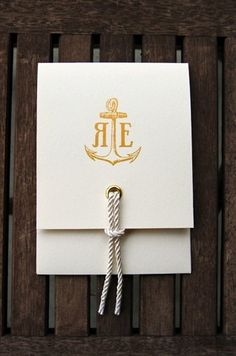 oh...mmmm... ggeeee... {nautical invitation} my mind is already reeling with how we can incorporate the rope and grommets! @Kelsey Brockmeyer @June Aurora do you love too???