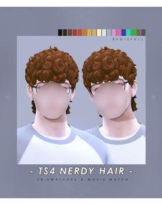 Sims 4 Hair Male, Sims 4 Black Hair, Sims Hair, Male Hair, Sims 4 Body Mods, Sims Mods, Sims 4 Cc Packs, Sims 4 Mm Cc, Sims 4 Anime