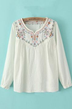 pretty embroidered top