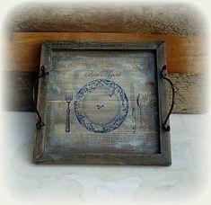 agir / Podnos Tray, Clock, Wall, Handmade, Home Decor, Watch, Hand Made, Decoration Home, Room Decor