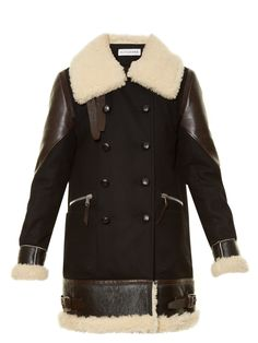 Ismir shearling-trimmed wool-blend coat | Altuzarra | MATCHESFASHION.COM US