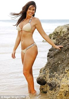 Busty beach babe: However the star didn't shy away from highlighting her ample assets eith...