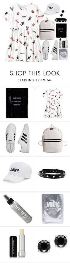 """""""Untitled #352"""" by genesisdallas ❤ liked on Polyvore featuring Cleanse by Lauren Napier, Chicnova Fashion, adidas, SO, Lapcos, Marc Jacobs and Effy Jewelry"""