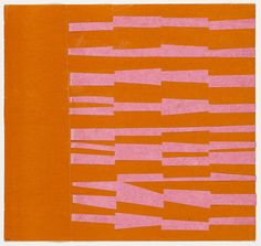 ellsworth kelly...pink and orange, 1951