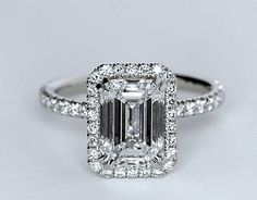 2.51ct Emerald Cut Diamond Engagement Ring GIA certified JEWELFORME BLUE