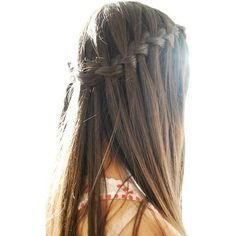 11 Waterfall French Braid Hairstyles Long Hair Ideas ❤ liked on Polyvore featuring accessories, hair accessories and long hair accessories