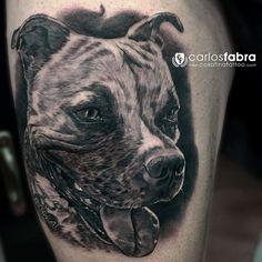 Roma. Precioso staffordshire bull terrier para Sergio. Muchas gracias a ti y a África!! #tat #tattoo #tatuaje #perro #dog #friend #love #roma #staffordshirebullterrier #staffy #sunday #sunny