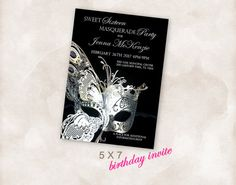 5X7 Birthday party invite Invitation Instant Download by Mazoria