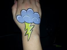 Simple / Easy lightning cloud face paint – Hobbies paining body for kids and adult Leg Painting, Painting For Kids, Cheek Art, Kids Carnival, Face Painting Designs, Hand Art, Pictures To Paint, Face And Body, Painting Inspiration