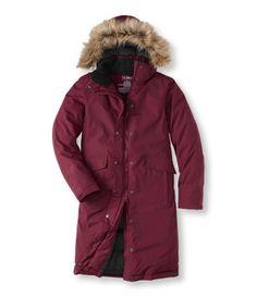 $269 Acadia Down Coat: Winter Jackets | Free Shipping at L.L.Bean  650 fill, knee length, -55 degrees