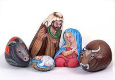 presepe - painted rocks by Ernestina