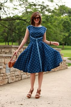 circle skirt dress - Butterick '52 Retro pattern (B4790)