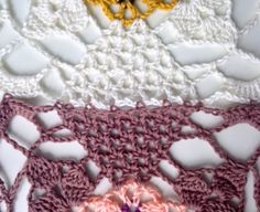 tutorial for joining squares as you go- CCC: Rustic Lace Square