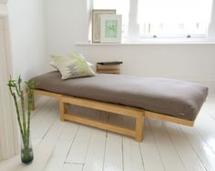 Linear - Single Seater Sofa Bed Solid Birch