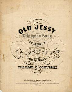 Vintage music sheet