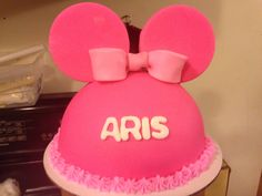 Pink Minnie Mouse Hat Smash Cake
