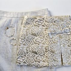 in our metallic jacquard skirts & gemstone bracelets Gemstone Bracelets, Mommy And Me, White Shorts, Fashion Accessories, Metallic, Gemstones, My Style, Skirts, Women