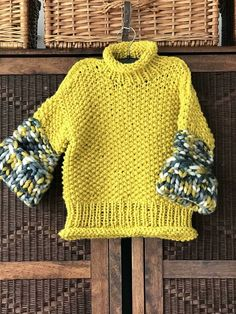 Do you love knitting for your own kids? Might for your granddaughters or nieces? Easy to knit and comfortable to wear, LITTLE MISS SPICE sweater has very simple construction. Hand Knitted Sweaters, Sweater Knitting Patterns, Crochet Cardigan, Knitting Designs, Knit Patterns, Baby Knitting, Knit Crochet, Knit Fashion, Sweater Fashion