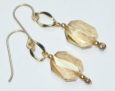 Items similar to Swarovski Crystal Beaded Earrings - You choose the birthstone color. on Etsy
