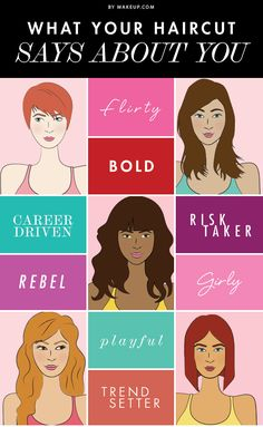 You know the saying, don't judge a book by its cover? Well, that's essentially what people are doing about you based on your hairstyle. Curious to see what your haircut says about you and your personality? MDC has the scoop!