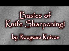 Basics of knife sharpening - YouTube