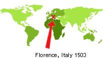 Mapamundi de leonardo leonardo da vinci pinterest mapamundi world map with florence italy 1503 gumiabroncs Gallery