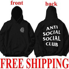 Fashion Casual Loose Club Hoodie Anti Social Social Club Hooded Kanye Sweatshirts Clothes