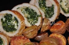 Scarsdale Diet Recipes: Baked Chicken Spinach Rolls