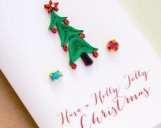 Tarjeta de Navidad Santa Claus Ho Ho Ho por ofthingspretty