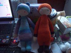 BINA the bear & FIBI the fox made by Je / crochet pattern by lalylala
