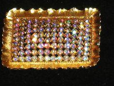 Vintage 1950s LISNER Framed Rhinestone Pin / Brooch | eBay
