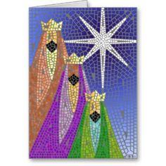 christmas 3 kings | Three Kings Mosaic card