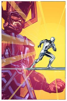 Silver Surfer and Galactus by Tommy Lee Edwards