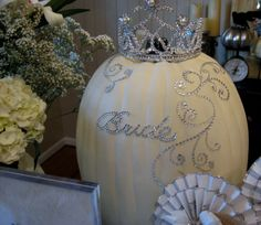 Love the bling on a white pumpkin