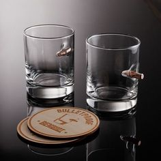 BenShot Original Rocks Glass Set Glasses + 2 Wooden Coasters) - BenShot - Touch of Modern Man Cave Items, Furniture Factory, Wooden Coasters, Fun Shots, Product Offering, Led Flashlight, Gifts For Boys, Cool Gifts, Modern Design