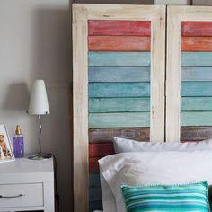 Respaldo con tablas de colores Amor, Aging Wood, Antique Wood, Solid Wood, Wood Head Boards
