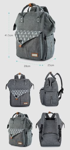 Lekebaby Fashion Mummy Maternity Bag Multi-function Diaper Bag Backpack  Arrow Print Nappy Bag with 18562a4f20545