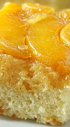 Amish Peach Upside Down Cake