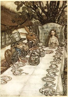"""1975 Plate /""""An Unusually large Saucerpan Carried it Off Alice Wonderland Rackham"""